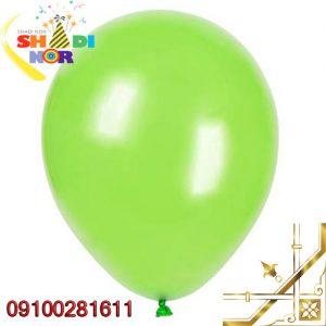 بادکنک-سبز-تک-رنگ-مات-و-براق-برای-جشن-تولد-عروسی