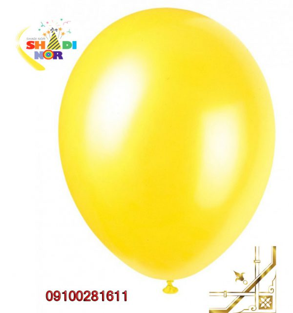 بادکنک-زرد-تک-رنگ-مات-و-براق-برای-جشن-تولد-عروسی 1