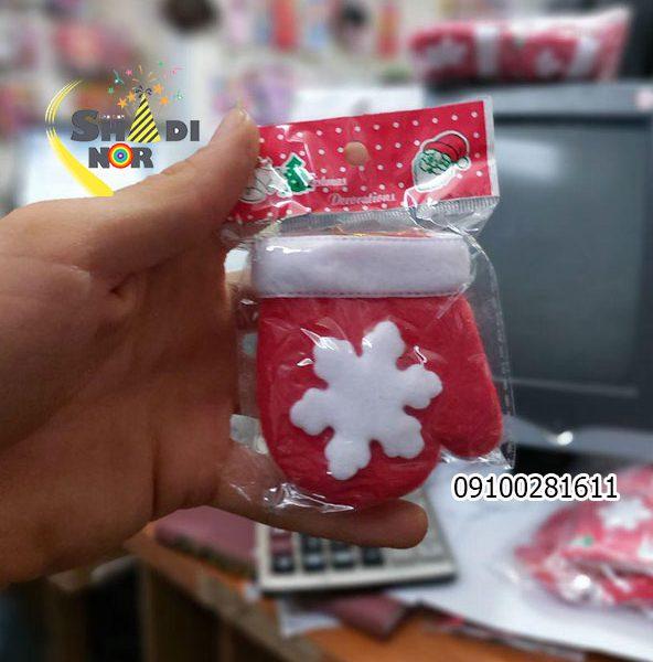 دستکش آویز کریسمس - خرید عمده لوازم کریسمسی در ایران