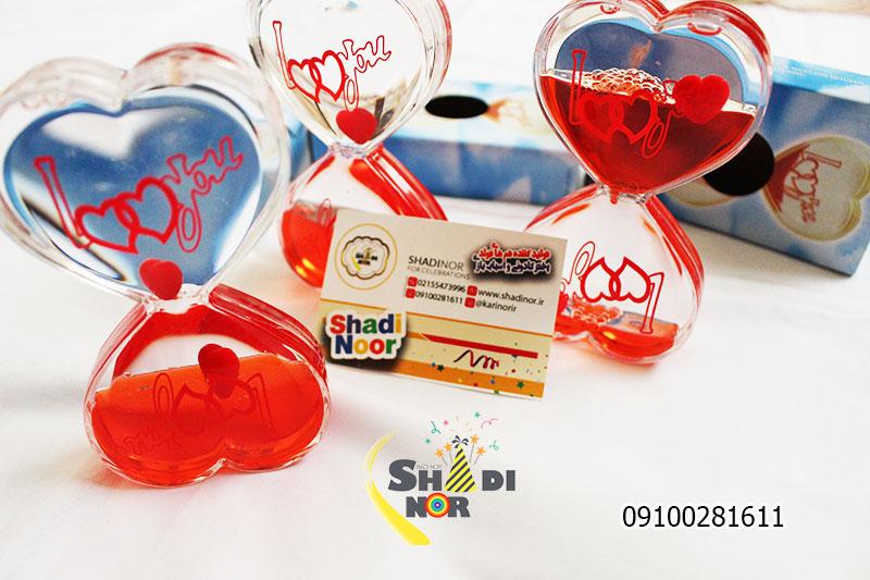 ساعت شنی قلبی قرمز - فروش عمده ساعت شنی پخش عمده لوازم کادویی و ولنی