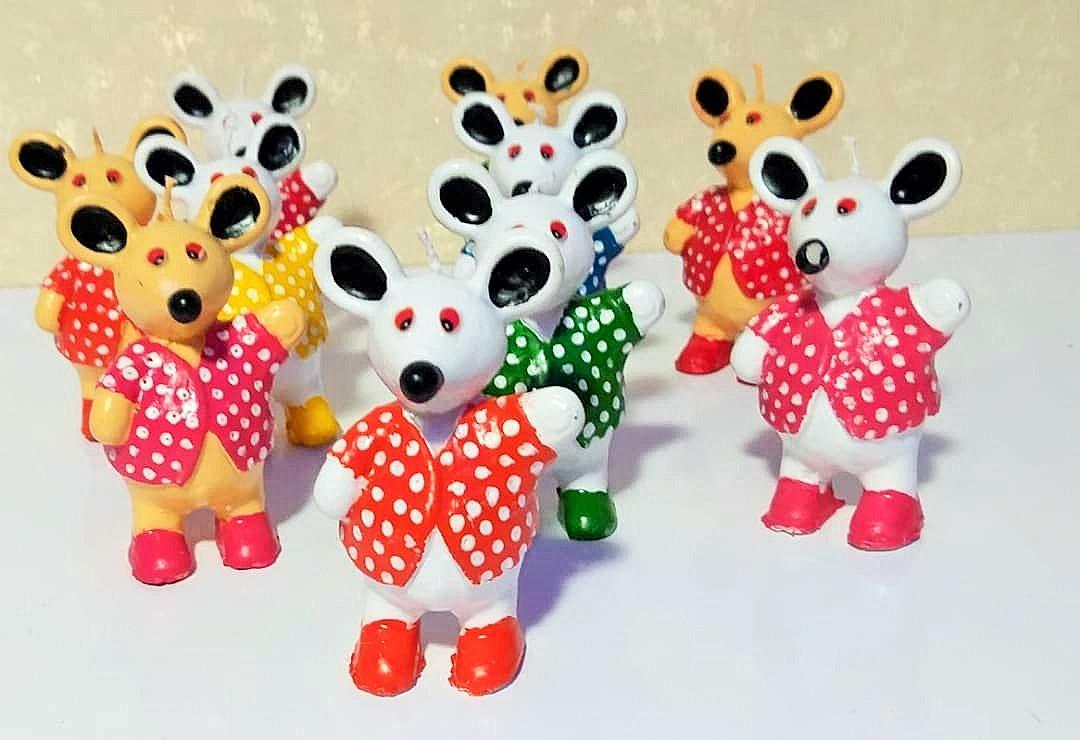 شمع طرح موش های شهر موش ها - فروش کلی شمع و لوازم هفت سین