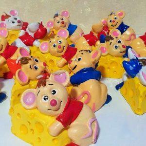 شمع طرح پنیر و موش عروسکی - فروش کلی شمع و لوازم هفت سین