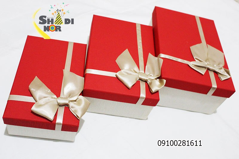 جعبه کادویی سه تیکه - فروش کلی جعبه کادویی و لوازم تزیینی