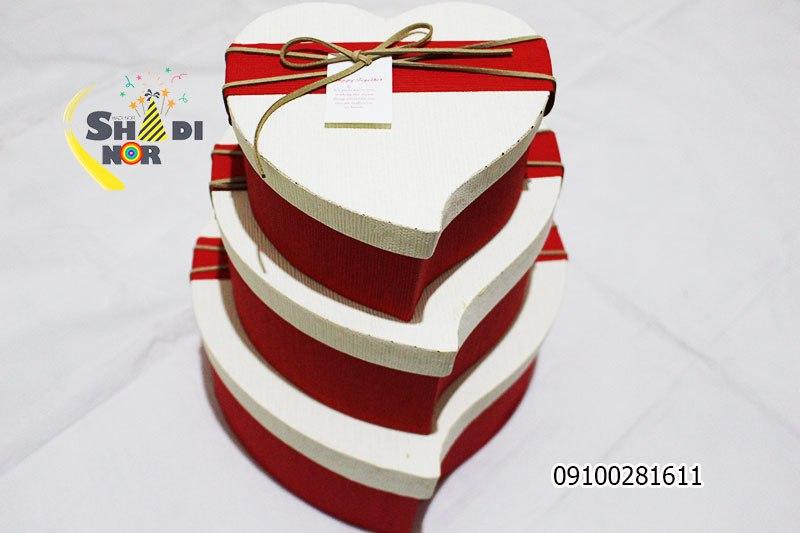 جعبه قلب سه سایز خارجی - فروش کلی جعبه کادویی و لوازم تزیینی