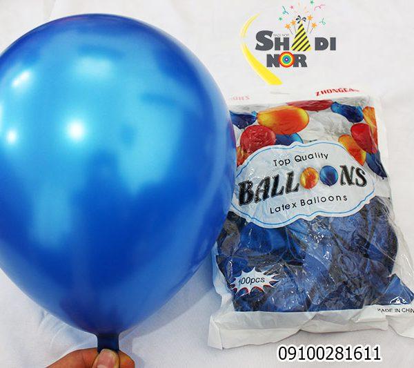 بادکنک ژانگ آبی پرنگ فروش عمده بادکنتک تک رنگ ابی پخش کلی