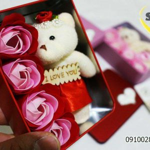 فروش عمده جعبه عروسک خرسی مناسب ولنتاین و کادویی و ...
