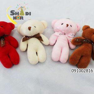سفارش اینترنتی انواع عروسک آویزانی خرسی در رنگ و طرح متفاوت