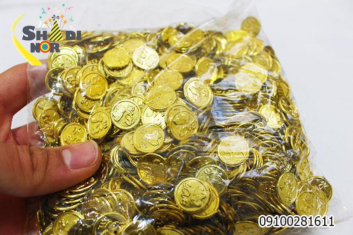سکه مبارکباد مخصوص عروسی حنابندان عید نو سکه تبریک طلایی نقره ای
