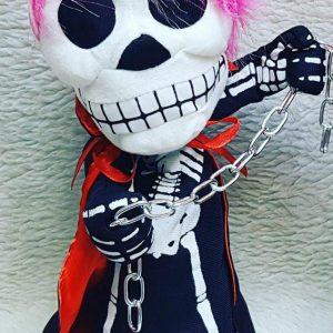 فروش عمده لوازم شوخی و لوازم هالووین عروسک اسکلت زنجیر دار