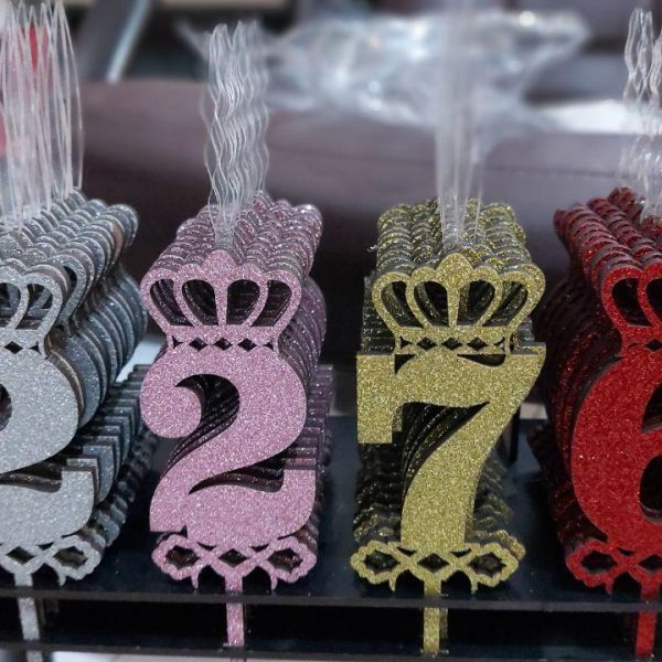 قیمت عمده لوازم تولد شمع های تولد عددی