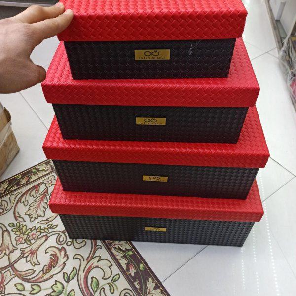 پخش عمده لوازم ولنتاین جعبه کادو چرمی مربع مستطیل